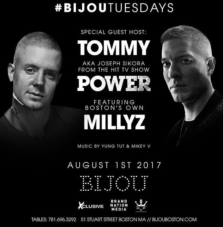 "Tommy from ""Power"" @ Bijou ft. Millys"
